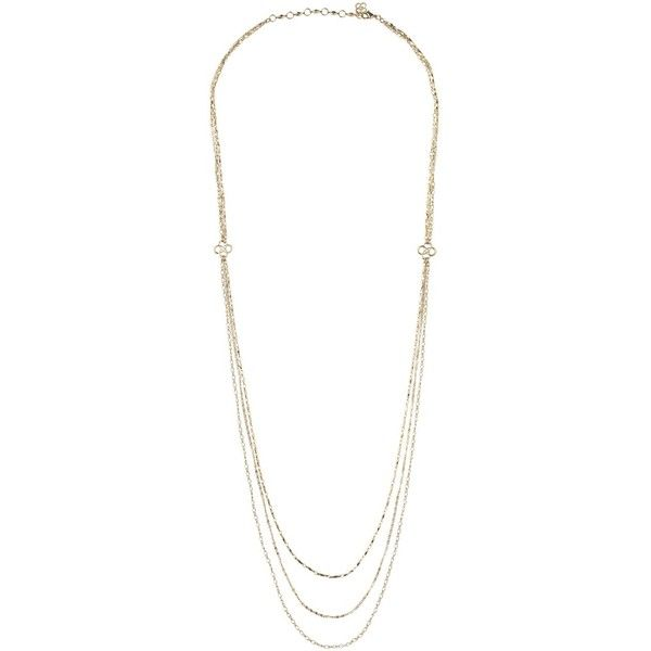 Stella & Dot Libby Layering Necklace ($69) ❤ liked on Polyvore featuring jewelry, necklaces, gioielli, stella & dot, four leaf clover jewelry, stella dot jewelry, layered necklace, stella dot necklace and four leaf clover necklace