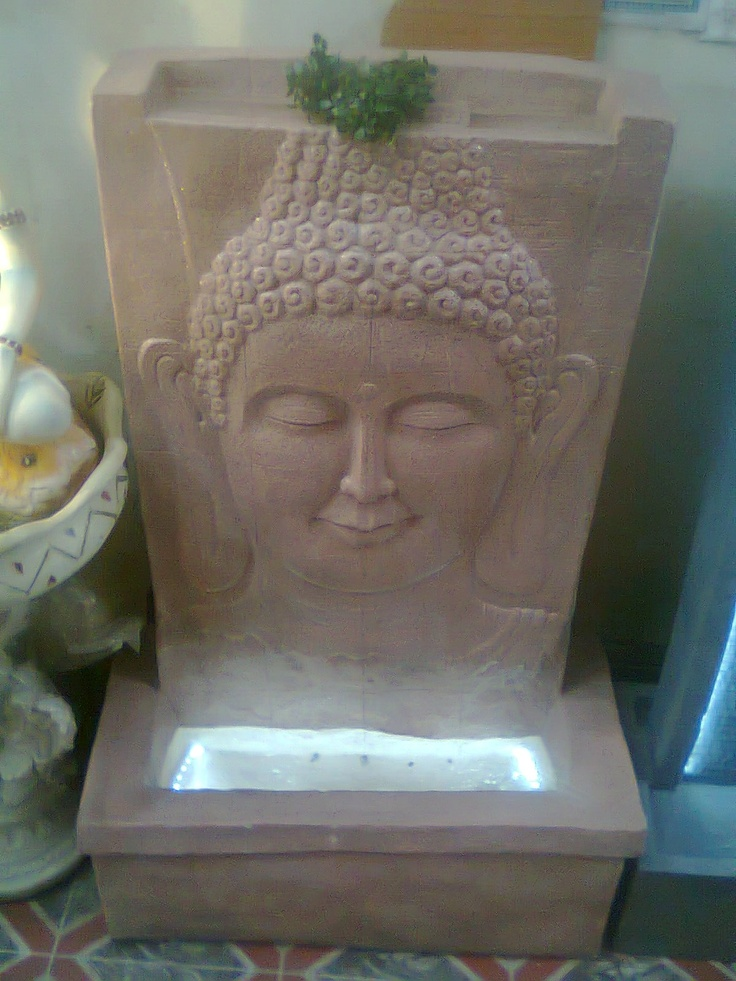 Exclusive Hand Crafted Fountain of Mahatma Buddha with curtain water fall. Made of Fiber Stone with Hand painting. available at TCG 344 FF Supertech Shopprix Mall Sec 61 Noida 201301 U.P. India Ph. 91-9811119866, 91-9718999053, 91-9718999074 tcggifts@gmail.com, www.tcgonlinestore.com