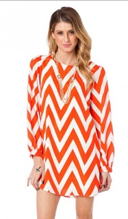 Clemson Girl Quick Poll - Would you wear this orange chevron dress to a Clemson game? Vote on the blog!