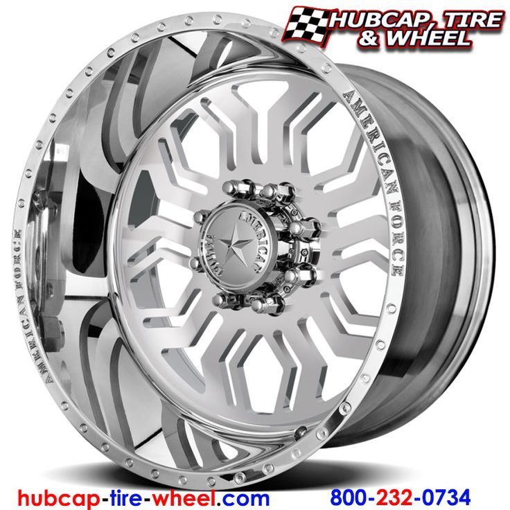 American Force Hawk SS8 (8 lug) Polished (not chrome) Wheels & Rims for Trucks and Jeeps