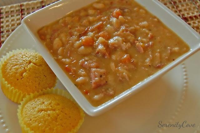 Ham & Bean Crock Pot Soup
