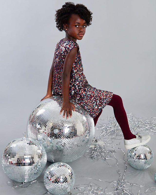 Someone's ready for the New Year... are you? #contempokidsphoto #vsco #nyefashion #discoballs #kidsfashion #congolese #kidsminisession