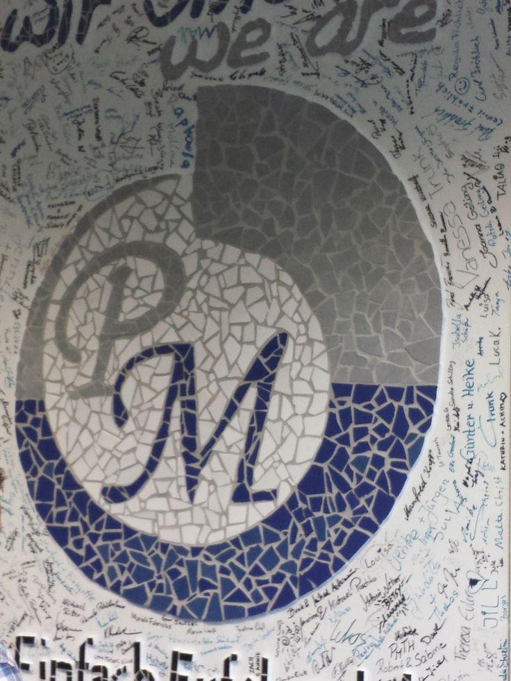 PM logo in Mosaic