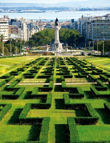 Lisbon: from the Eduardo VII Park to Tagus River #Portugal