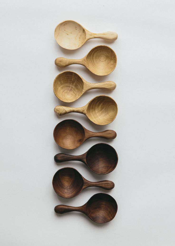 The gradients, textures and beauty of hand crafted wooden items. From Birch, through to Sweet Chestnut and Walnut, creating these beautiful hand carved coffee scoops. As rich and unique as the coffee beans it is intended for, this little scoop will make your morning ritual a special occasion every day. These are also great for measuring sugar, flour or grains.