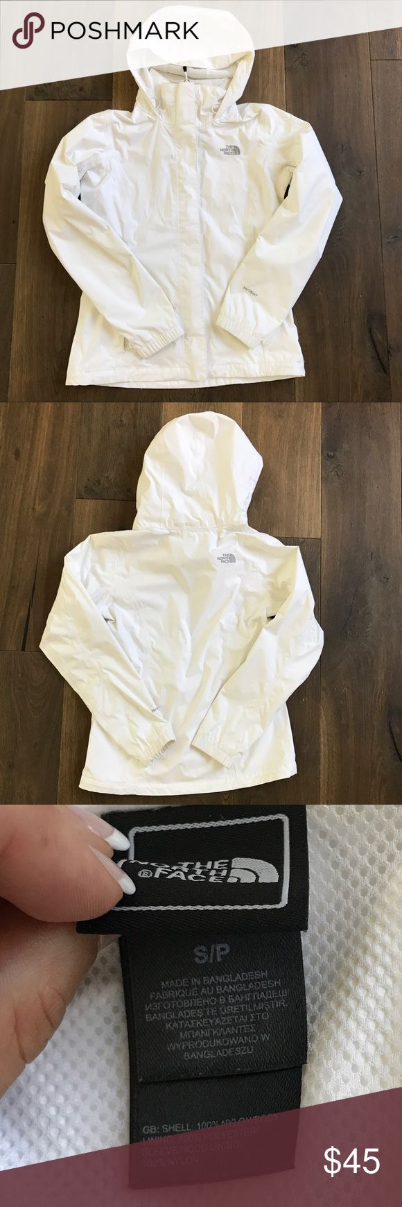 The North Face - women's rain jacket White. Size small. Excellent condition. No holes. All zippers work. The North Face Jackets & Coats