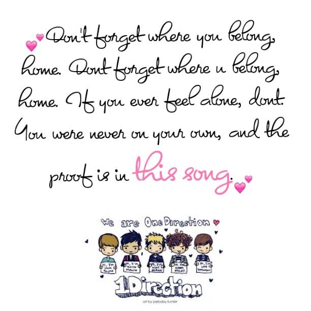 One Direction- Don't Forget Where You Belong | Song lyrics ...
