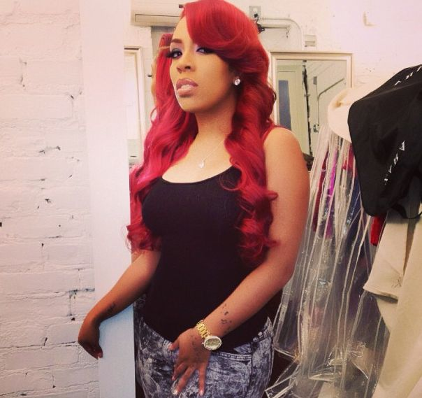 k michelle red hair color   Michelle Promises To Give Fans What They Want In Newly Released ...