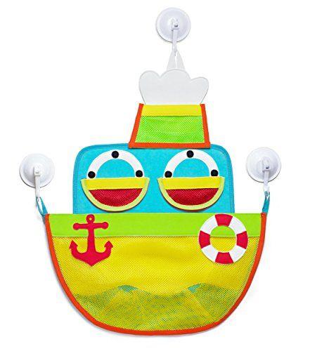 Ship Shape Bath Toy Organizer   Bath Toy Storage For Kids, Toddlers And  Infants (Boys U0026 Girls): Biggest Bath Toy Net For Baby Bath Toys By  MotherStar.