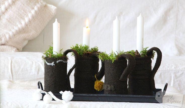 Advent, Advent ... *Dosen-Tassen-DIY* - Adventsdekoration Tassen aus Dosen DIY