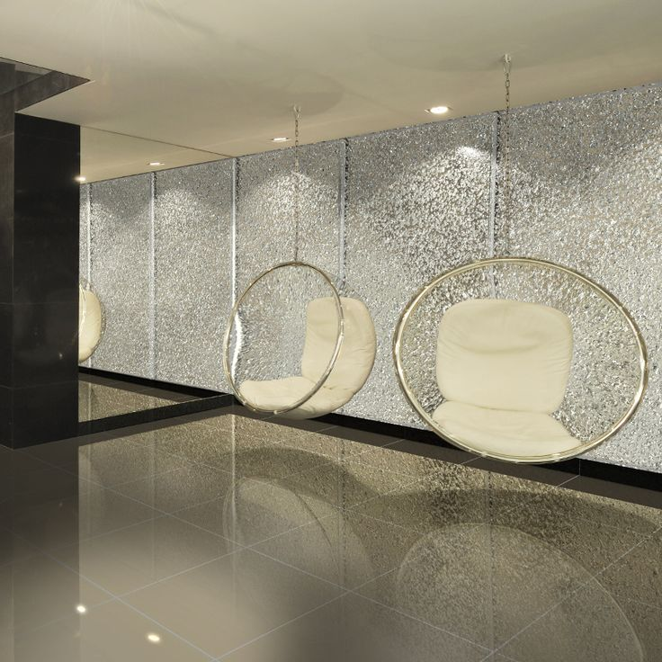 Relax - a decorative wall by Pavel Baxa for Sans Souci. Made of extraordinary arctic glass.