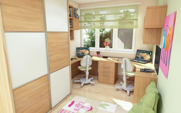 Dětský pokoj s pracovním stolem