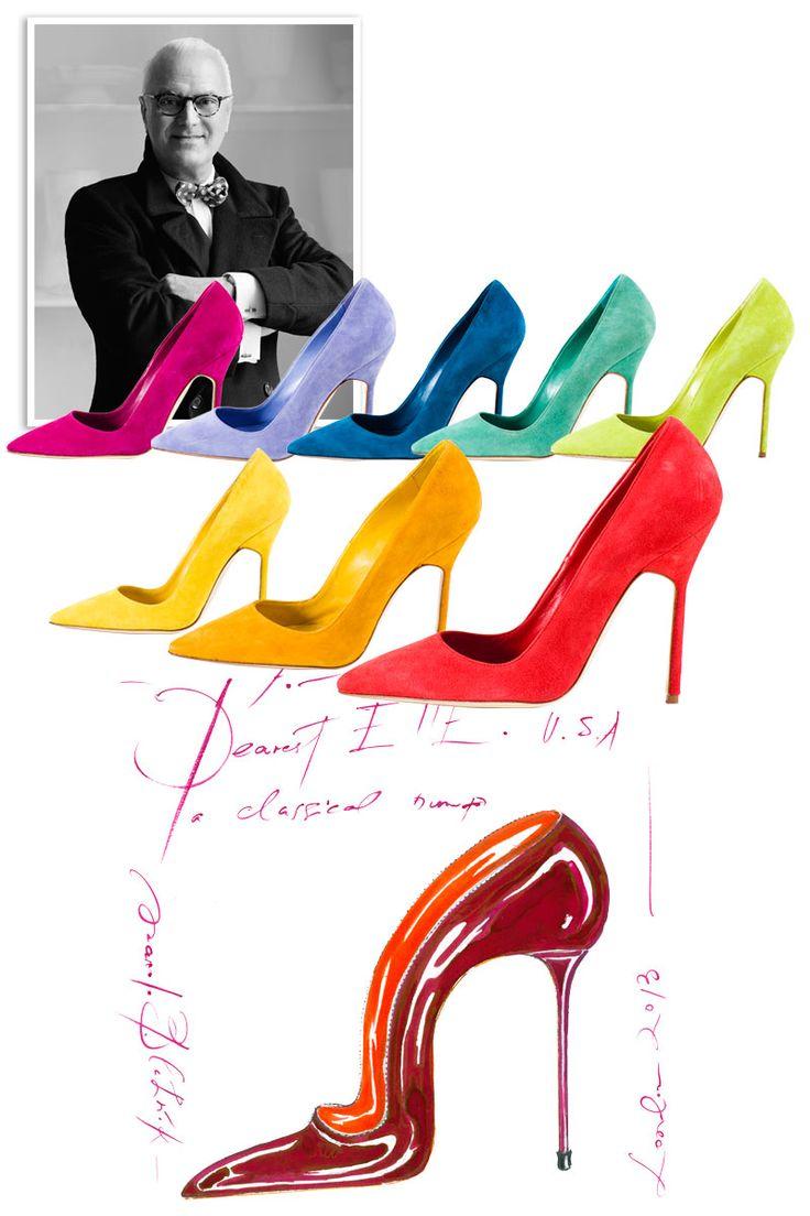 37 best manolo blahnik cre tion sketch images on for Shoe designer manolo blahnik
