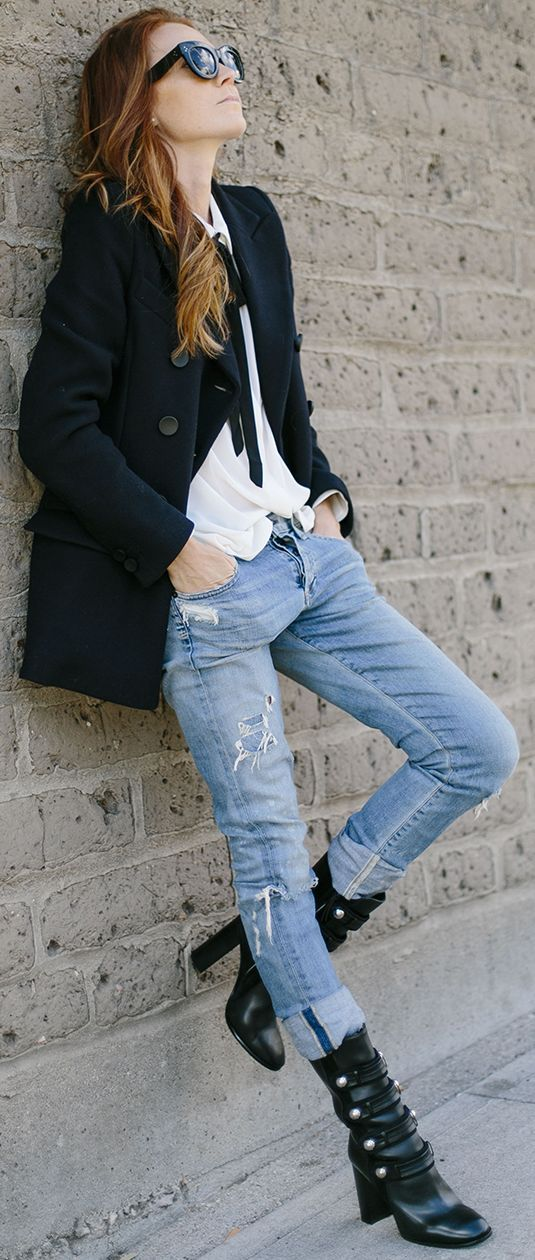 Rocker's Boots For Rocker's Vibes Fall Street Styles Inspo by Could I Have That ?