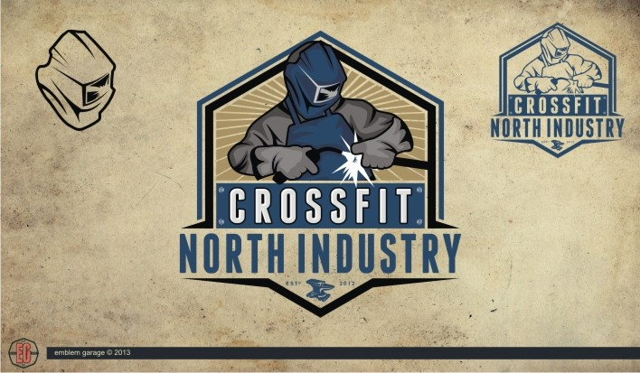 logo design for CrossFit North Industry