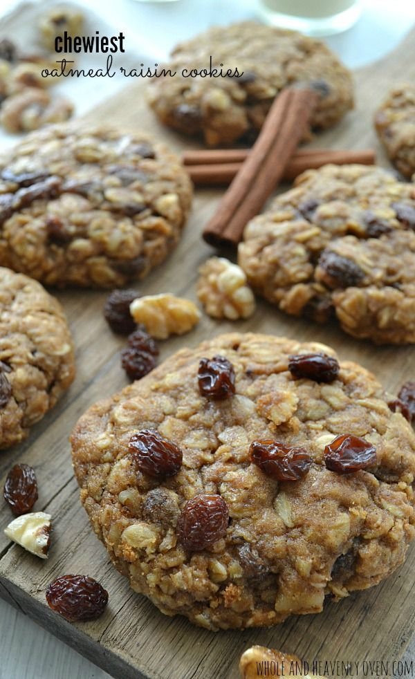 These simple, classic oatmeal raisin cookies are definitely a keeper recipe! Super-thick and unbelievably chewy, you're definitely gonna want to grab two with that glass of milk!