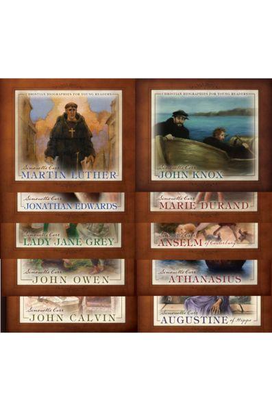 Christian Biographies for Young Readers 10 Book Set, Simonetta Carr, Lady Jane Grey, 9781601781901, Athanasius, 9781601781512, John Owen, 9781601780881, Augustine of Hippo, 9781601780737, John Calvin, 9781601780553, Anselm of Canterbury, 9781601782410, Jo