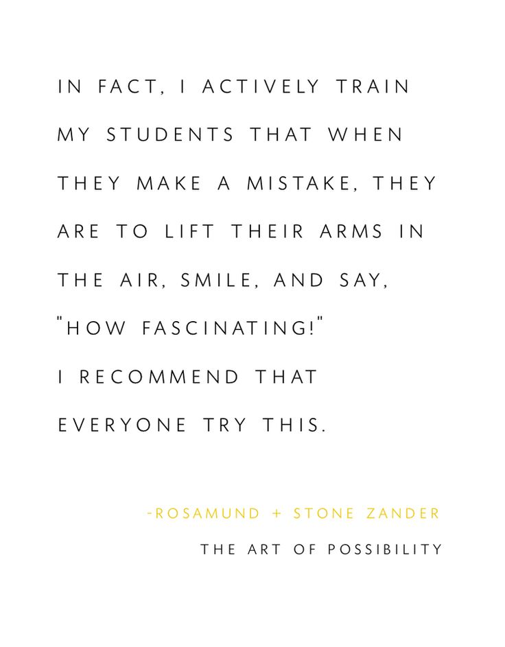 The Art of Possibility (and failure)