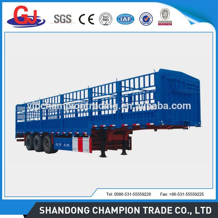 3 axle 50ton cargo stake semi trailer