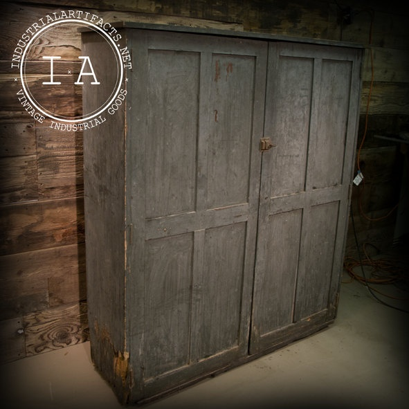 Antique Wooden File Clerks Storage Cabinet Shelving Unit Primitive Shabby Chic 32500 Via Etsy