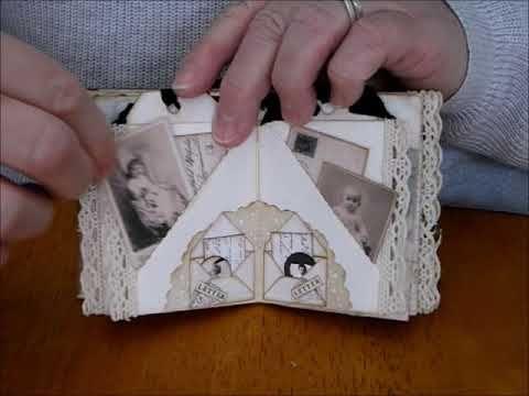 Micro Mini Vintage Journal Using Ephemeras Vintage Garden Kits In 2020 Vintage Journal Garden Kits Vintage Garden