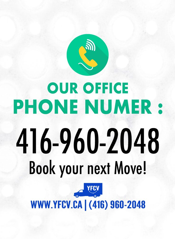 Our office Phone number - 416-960-2048 Book your next #Move! #ContactUs! Your Friend with a Cube Van #YFCV #Toronto #Movers www.yfcv.ca. #Moving #Packing and Delivery Services