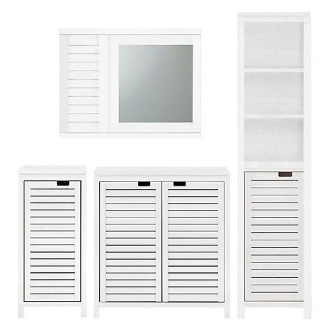 Buy John Lewis Bali Bathroom Tallboy, White Online at johnlewis.com