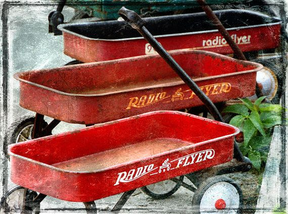 this is how I would cart my brothers around in a little red wagon...