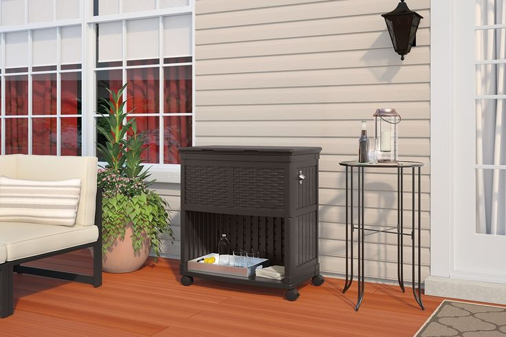 Entertaining Cooler Station - Patio Accessories - Patio & Yard - Suncast® Corporation