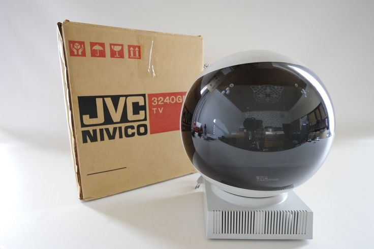 Serviced 70s Vtg Grey Portable JVC 3240 GM NIVICO VIDEOSPHERE Ball Tv Space Age | eBay