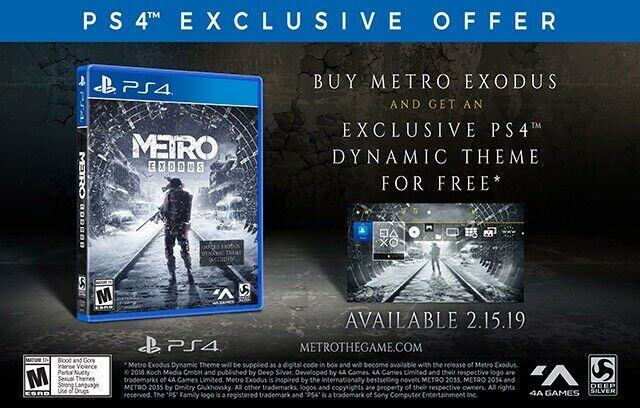 METRO EXODUS (Playstation 4