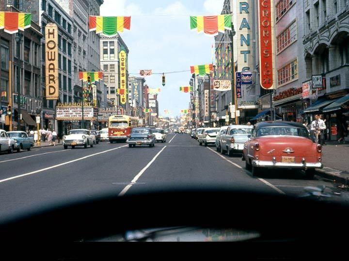 S Salina St Downtown 1950s Syracuse NY