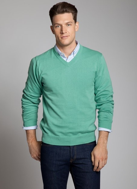 Tipping Point - Bonobos 100% Cotton Green V-Neck Sweater: Green Sweaters, Fall Weights, Men Clothing, Bonobo Men, Colors Combinations, Men Fashion, Menswear Green, Shades Of Green, Men Sweaters