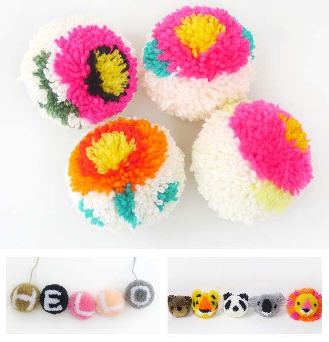 Tutorial passo passo per fare un pon-pon multicolor (perfetto per il tuo #myboshi!!) + sfida per fare dei pon-pon con disegnini!