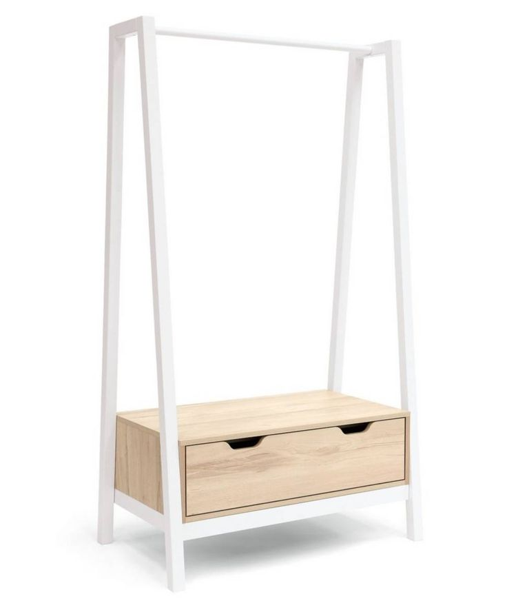 Image result for white wooden clothing rail