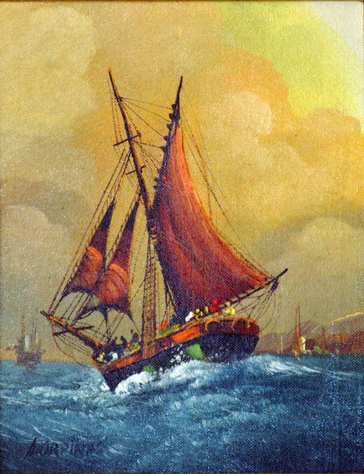 Digital image of original 8 X 10 oil painting.