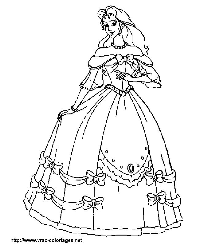 Prom dresses coloring pages