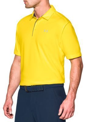 Under Armour Men's Tech™ Polo Shirt - Tokyo Lemon /Graphite - 2Xl
