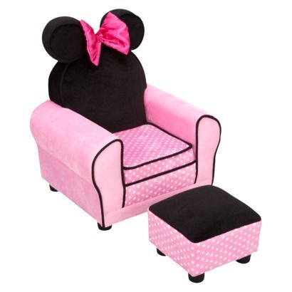 Disney Minnie Mouse Chair & Ottoman. For Jaliyah once I finish decorating her Minnie Mouse room