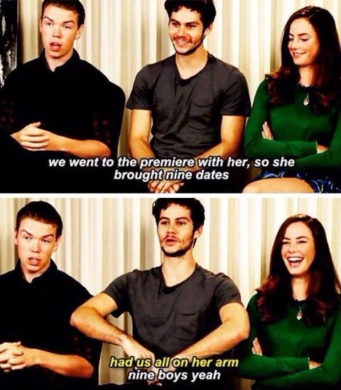 The Maze Runner Cast - Will, Dylan, and Kaya.