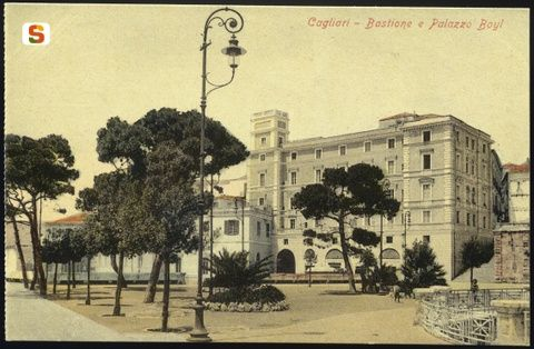 Cagliari, bastione di Saint-Remy e palazzo Boyl