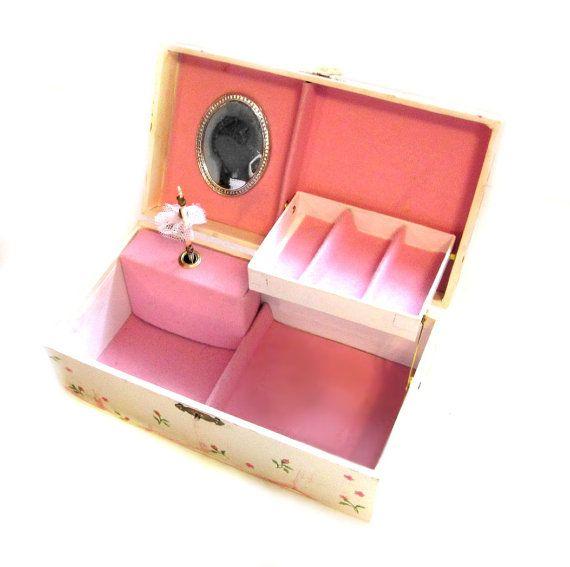 Vintage Jewelry Box / Gunther Mele Ballerina Music Box