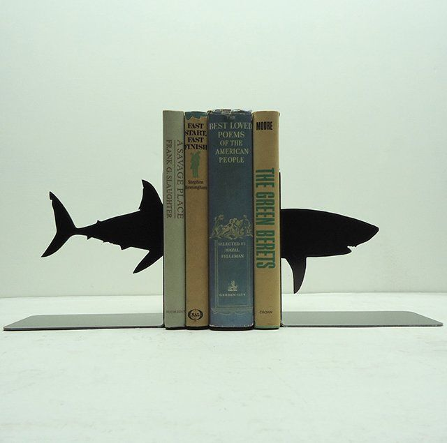 Shark Bookends--could easily get something like this laser cut at the art building.
