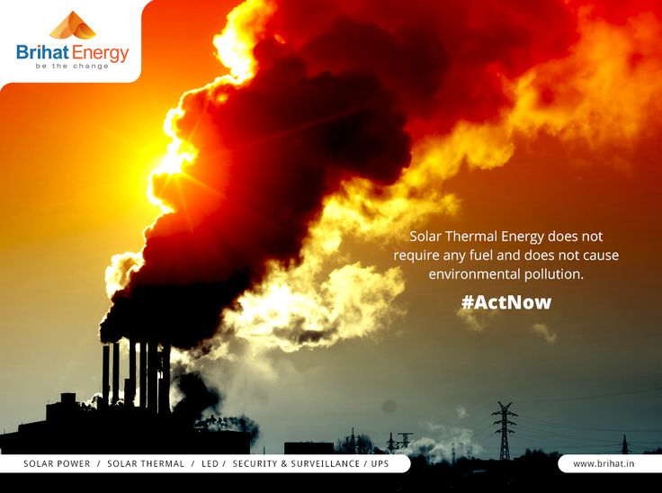 Solar Thermal Energy does not require any fuel and does not cause environmental pollution. #ActNow  Visit: goo.gl/q6ECB2