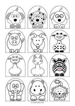 Stick puppet templates.Black and white so children can