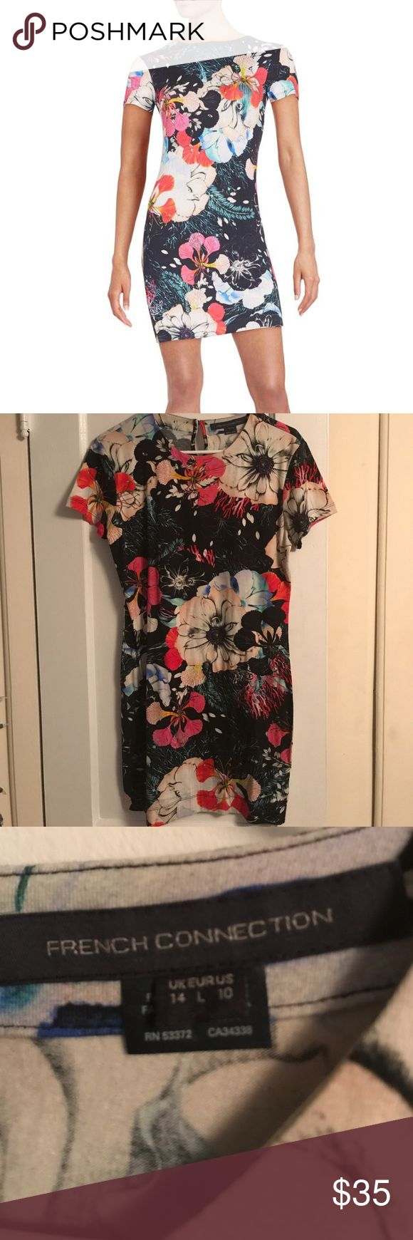 French Connection Dress Floral Print French Connection dress size L.  Has never been worn, great dress for Spring and Summer! French Connection Dresses Mini