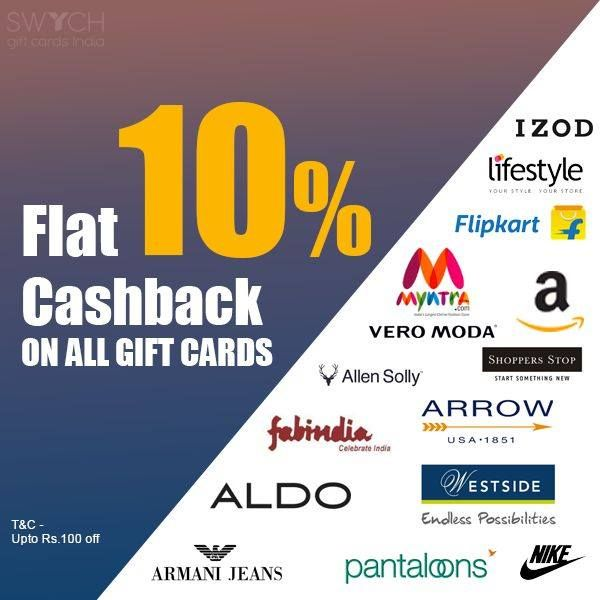 Wow Get Flat 10 Cash Back On All Gift Cards T C Apply Gift Card Mastercard Gift Card Cards