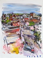 Steve Penley...painting of downtown Macon, GA