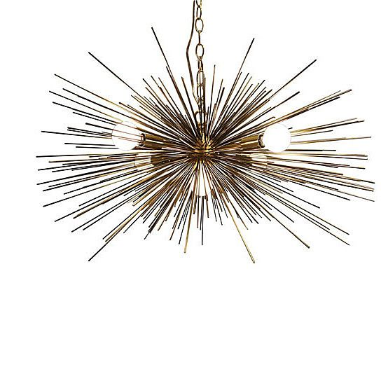 brass urchin sputnik style chandelier jean de merry knock