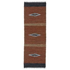 St Croix Trading Matador Brown Rectangular Indoor Handcrafted Southwestern Runner (Common: 2 X 12; Actual: 2.5-Ft W X 12